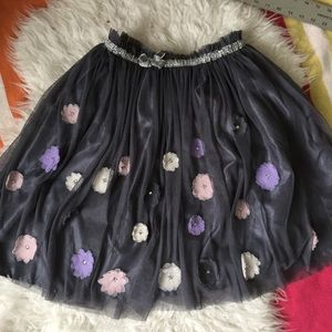 Soft Tulle Tutu Skirt With Appliqués 14